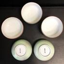 有田焼 福幸窯 湯呑み茶碗 5客セット うすい緑に草模様