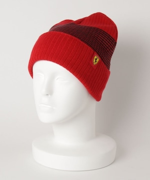 タグ付新品プーマフェラーリPUMAロゴビーニーニット帽子レッド赤