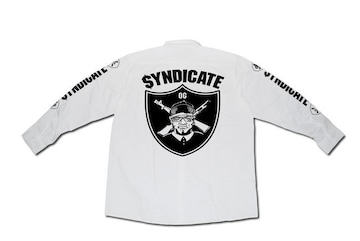 SYNDICATE★OG長袖ワークシャツ★L★白★新品