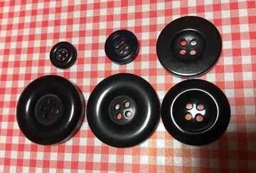 未使用★長期保管★黒系のボタン大小セット