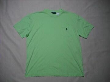 05 男 POLO RALPH LAUREN ラルフローレン 緑 半袖Tシャツ M
