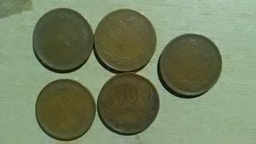昭和30年代10円貨幣5枚  硬貨