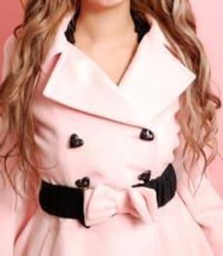 MARS☆りぼんベルト付きフレアコート☆ピンク☆新品タグ付き