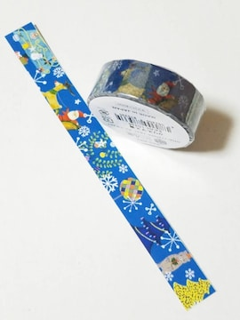 キュートマスキングテープ★クリスマス青★キュートクリスマス