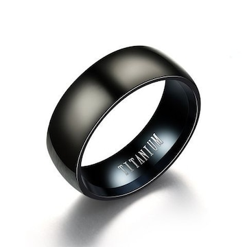 超お買い時390円★ メンズ チタン欧米スタイルリング 20号黒