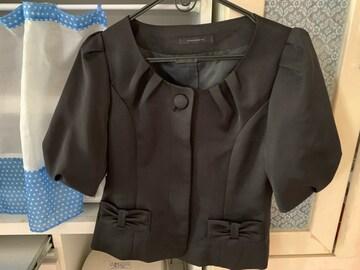 美品 試着のみ ノーカラー半袖ジャケット