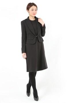 レディーススーツ 黒ママ喪服フォーマル入学卒業お受験 L11号