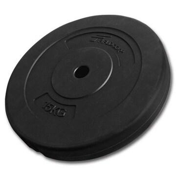 ダンベルプレート 黒 15kg セメントダンベル / バーベル