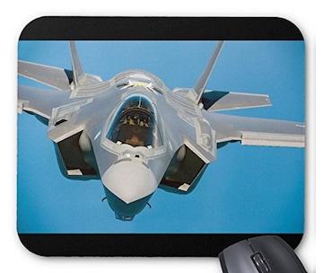 ステルス戦闘機 F-35 のマウスパッド (B)