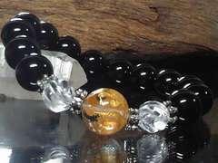 四神獣四体彫り水晶§トルネード水晶§オニキス12ミリ