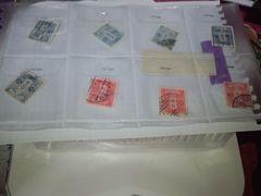 古い使用済み切手 ペーパーオフ8枚 �E