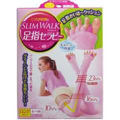 SLIMWALK足指セラピー ロングタイプ S-Mサイズ マーブルピンク