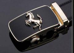 超高級車ブランドのフェラーリ 牛本革 オートマチックバックル