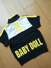 新品半袖ジャケット100黒ベビドBABYDOLLベビードール
