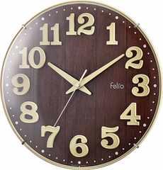 Felio 置き時計・掛け時計 アイボリー