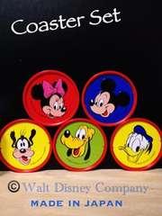 ディズニー洗えるコースター5柄ミッキーミニードナルドプルート