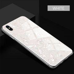 クリスタルガラスケースiPhoneXR ホワイト
