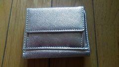 オシャレな女性用3つ折り財布(^_^)vゴールド