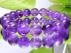 本物天然石天然アメジスト紫水晶10ミリ数珠
