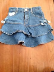 サムシング 女の子用デニムスカート120
