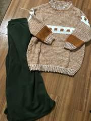 ☆新品☆可愛い*あったかニットセーター柄物