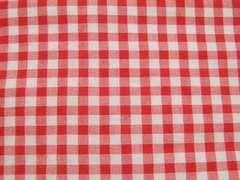 S幅 赤白ギンガムチェック 50×92