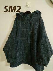 《SM2》即決!大きいサイズ/ポンチョコート/グレー☆激安です◎