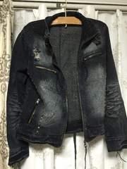 デニム ライダースジャケット