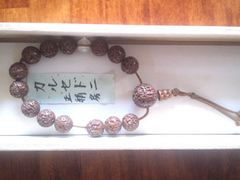 ★カルセドニに正絹房付き桐箱入の念珠で新品です☆