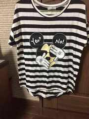 ディズニー ミッキー 可愛いボーダーTシャツ 美品
