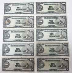 紙幣 軍票 10ペソ 10枚