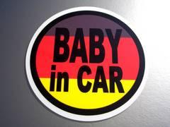 BABY in CARドイツ国旗ステッカー☆赤ちゃんが乗ってます