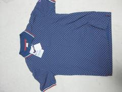 ◆Champion(チャンピオン)/ポルカドットポロシャツ/M/紺×ピンク/新品タグ付/ナナミ