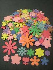 クラフトパンチ色々なお花のパンチ100枚アルバムの飾り・懸賞ハガキのデコ