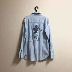 Moussy/Disneyコラボ★後ろミッキーマウスデニムシャツ 袖丈2way★美品