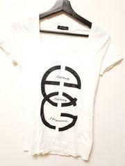 新品未使用◆EGOIST◆エゴイスト黒デカロゴTシャツ白F