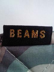 BEAMS ビームス 迷彩柄 ハンドバッグ かばん BAG ポーチ 鞄 ゴールドチェーン