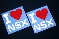 I LOVE ステッカー2枚組み 各色有り NSX