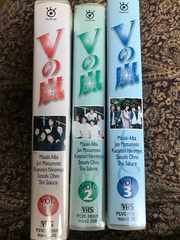 ARASHI Vの嵐 全3巻 VHSビデオテープ 未DVDレア!