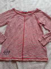 LACOSTEボーダーロンTシャツ(美品)34