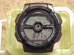 海外CASIOデジタル腕時計 AE-1100W 中古品 本体のみ