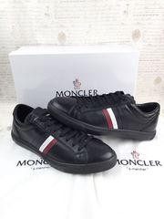 新品  モンクレール ラ・モナコ レザースニーカー 靴 黒メンズ
