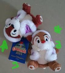 ディズニーシー チップ&デール ぬいぐるみ X'mas DisneySea