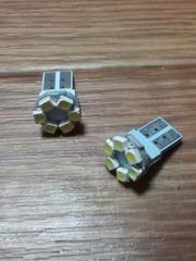 LED T10ウェッジ球(白/高輝度SMD/6連)2個セット