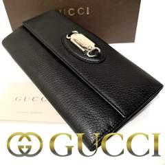 【専用ケース付】1スタ★グッチ/Gucci イタリア製本革 長財布