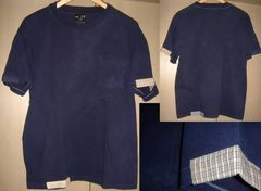 Indigo インディゴ 藍染 ポケット Tシャツ パッチワーク レア