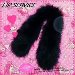 。*◆LIP SERVICE◆*。【ラクーンファーティペット★マフラー】BLK/��古