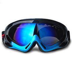 ゴーグル スキー スノボー UVカット ブラック・ブルー