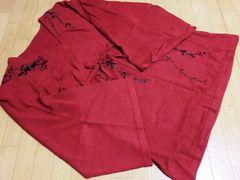 オットー/otto 草花刺繍ニットチュニックワンピース