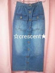 リズリサ☆デニムロングスカート☆新品♪タイトスカート/LIZ LISA/レースアップポケット